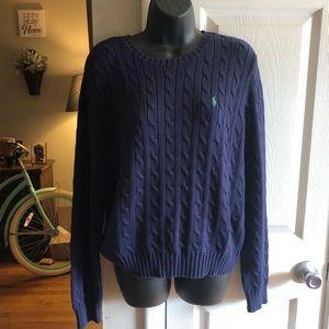 Braided navy Ralph Lauren polo sweater